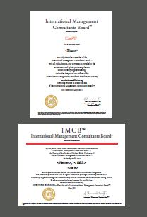 Sample IMCB Certification